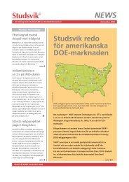 Studsvik redo för amerikanska DOE-marknaden