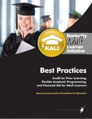 Best Practices Handbook - Council on Postsecondary Education
