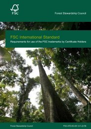 FSC International Standard - Forest Stewardship Council