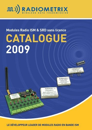 Catalogue Radiometrix