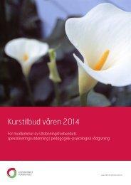 Kursbrosjyre våren 2014 - Utdanningsforbundet