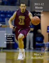 2011-12 Rhode Island College Men's Basketball