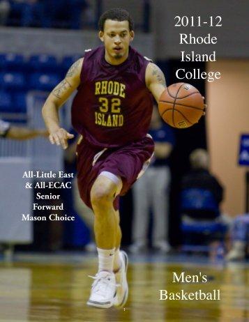 2011-12 Rhode Island College Men's Basketball