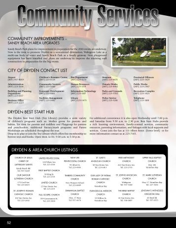 Community Services - City of Dryden