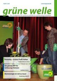 Grüne Welle Juli 2011 - SH.GRUENE.DE - Bündnis 90/Die Grünen