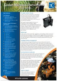 Codan Manpack Transceivers - Codan, Ltd.