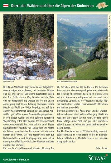 Wanderland (pdf) - Schwyzer Wanderwege