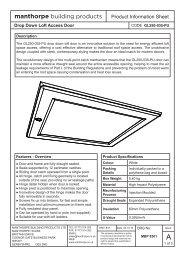 GL250-035-PU Loft Access Door Product Information Sheet.indd