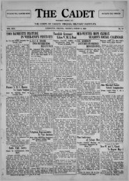 The Cadet. VMI Newspaper. March 11, 1929 - New Page 1 [www2 ...