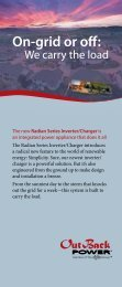 Radian Series Brochure - OutBack Power Technologies