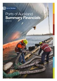 2012/13 Summary Financials - Ports of Auckland