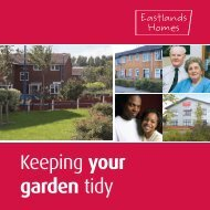 Keeping your garden tidy - Eastlands Homes