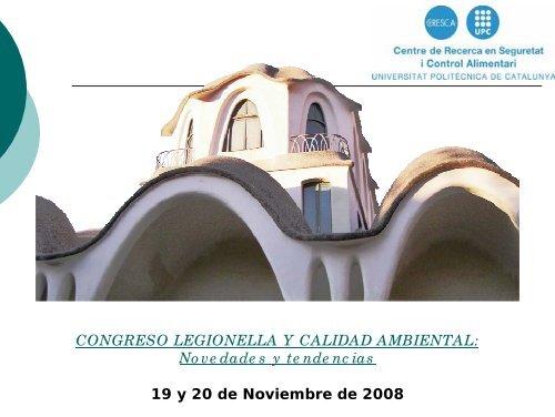 CONGRESO LEGIONELLA Y CALIDAD AMBIENTAL ... - CRESCA