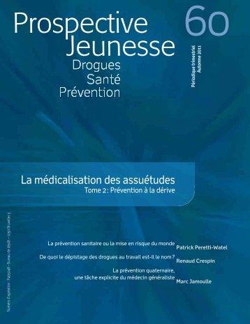 La médicalisation des assuétudes - Prospective Jeunesse