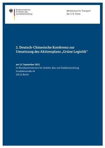 2. Deutsch-Chinesische Konferenz zur Umsetzung des Aktionsplans ...