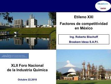 Etileno XXI Factores de competitividad en México XLII Foro ...