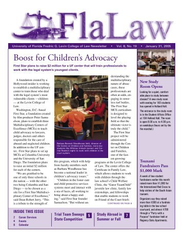 January 31, 2005 - Levin College of Law - University of Florida