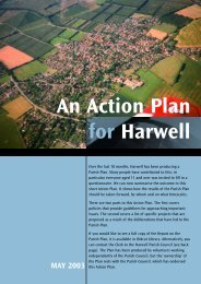 MAY 2003 An Action Plan for Harwell - Harwell Parish Council