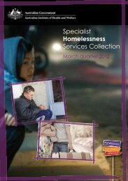 Specialist Homelessness Services Collection: March quarter 2012 ...