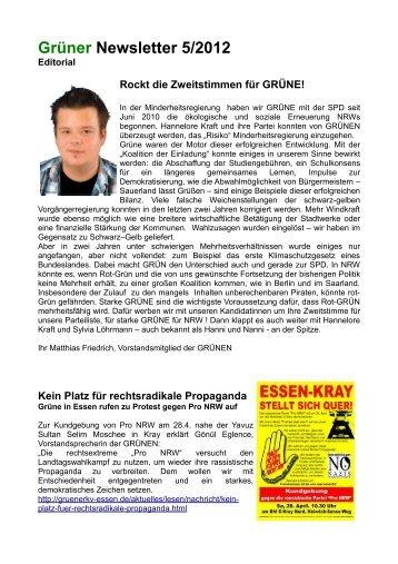 Grüner Newsletter 5/2012 - Die Grünen Essen