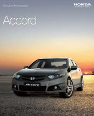 Genuine Accessories Accord - Honda