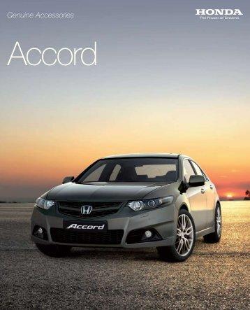 Genuine Accessories Accord - Honda