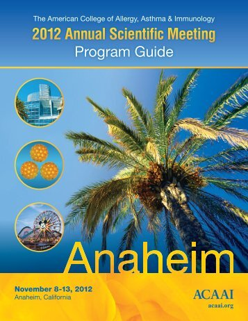 ACAAIProgramGuide2012c - American College of Allergy, Asthma ...