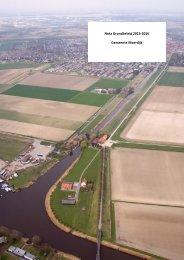 Nota Grondbeleid 2013-2016 Gemeente Moerdijk
