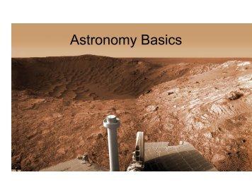 Astronomical Basics