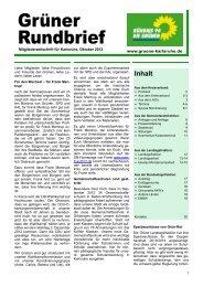 aus der landtagsfraktion - Bündnis 90/Die Grünen Karlsruhe
