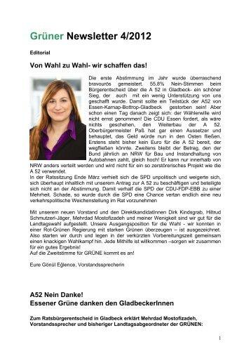 Newsletter April 2012 - Die Grünen Essen