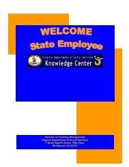 Division of Training Management Virginia Department of Social ...