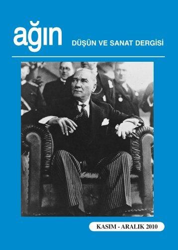 DÜŞÜN VE SANAT DERGİSİ - Ankara Ağın Derneği