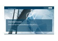 Power Point-slides, der blev vist under ... - Danske Invest