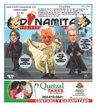 Marzo, 2013 Ed. 32 Titulares - Dinamita Magazine