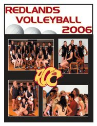 Volleyball Media Guide 2006.indd - Redlands Community College