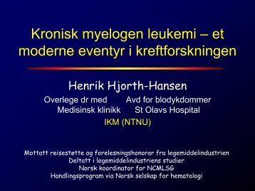 Henrik Hjort Hansen - St. Olavs Hospital