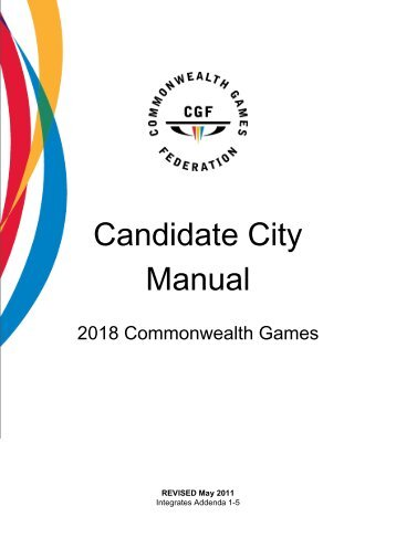 2018 Candidate City Manual - Commonwealth Games Federation