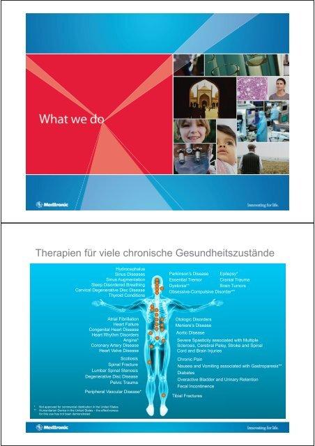 Therapien für viele chronische Gesundheitszustände
