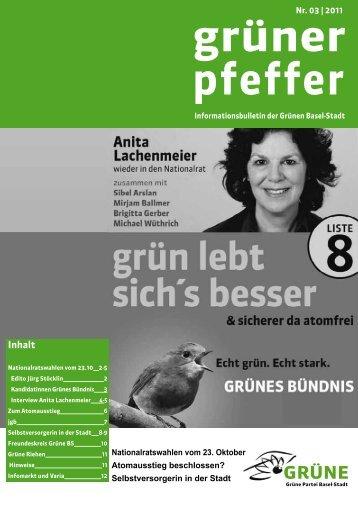 Ausgabe September 2011 - Grüne Partei Basel-Stadt