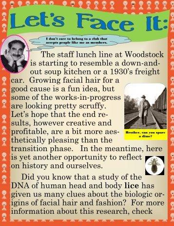 Facial Hair - Woodstock School