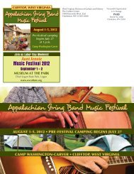 Appalachian String Band Music Festival - West Virginia Division of ...