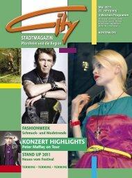 KONZERT HIGHLIGHTS - CITY Stadtmagazin