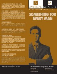 SOmEtHING FOR EVERY mAN - American Male Salons