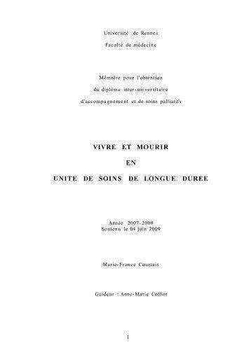 vivre et mourir en unité de longue durée - Coordination Bretonne ...