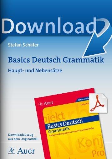 Basics Deutsch Grammatik