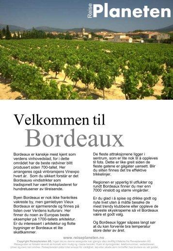 Reiseplanetens guide til Bordeaux