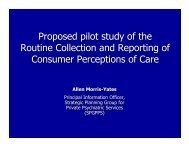 Proposed pilot study of the Routine Collection and Reporting of ...