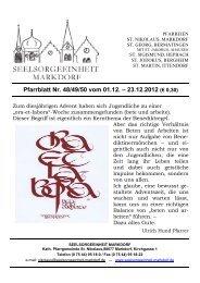 Pfarrblatt Nr. 48/49/50 vom 01.12. – 23.12.2012 (€ 0,30)