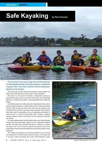 Safe Kayaking - New Zealand Kayak Magazine